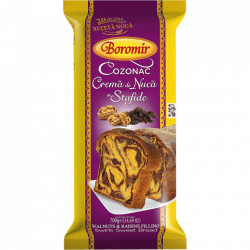 Cozonac crema de nuca si stafide 400g Boromir