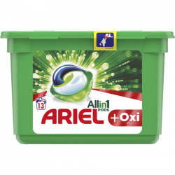 Detergent capsule Ariel All in One Pods + Oxi, 13 spalari