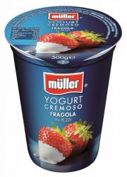 Iaurt cu capsuni 500g Muller