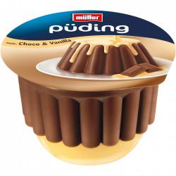 Budinca cu ciocolata si vanilie 450g Muller