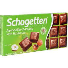 Ciocolata cu lapte si alune 100g Schogetten