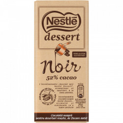 Ciocolata neagra 52% cacao Dessert Noir 205g Nestle