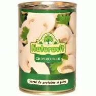 Ciuperci taiate felii 425ml la conserva - Naturavit