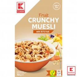 Crunchy musli fructe 750g K-classic