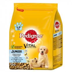 Hrana pentru caini, junior, pui 3kg Pedigree
