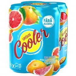 Bere grapefruit fara alcool 0.5L Ursus Cooler set 4 doze