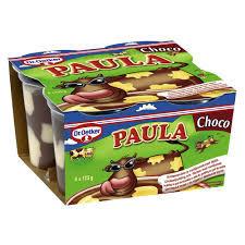 Budinca Paula 4x125g Ciocolata