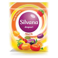 Dropsuri cu gust de fructe 75g SIlvana