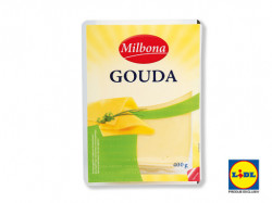 Branza Gouda felii 200g Milbona