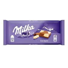 Ciocolata Milka cu lapte si ciocolata alba 100 g