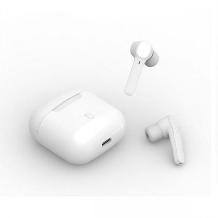 Casti fara fir, in-ear, stereo, Bluetooth 5.0, alb, TWS-6