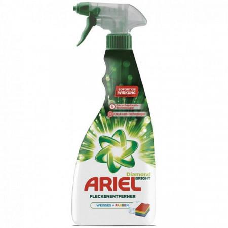 Spray Ariel pentru indepartarea petelor pentru haine albe sau colorate 750 ml