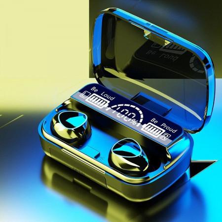 Casti fara fir, smart digital display, TWS 5.1 stereo, in-ear waterproof, 9D noise reduction, TWS-1