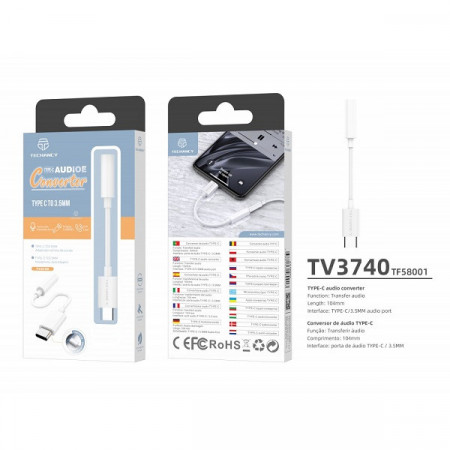 Adaptor audio USB de tip C la 3,5 mm, PMTF580013