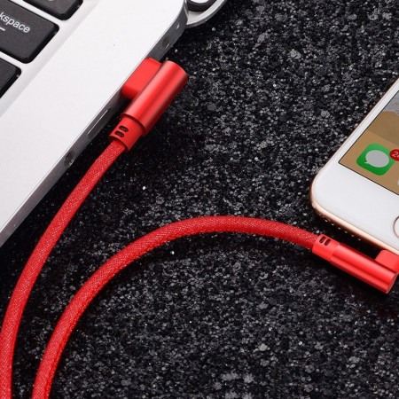 Cablu Apple Ligtning Cablu De Date Si Incarcare Pentru iPhone Rosu 1m