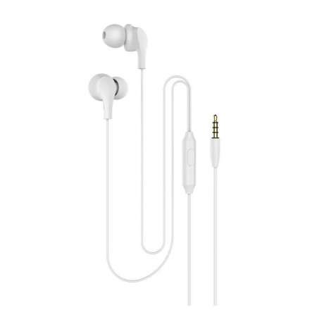 Casti In-EAR Stereo cu Jack 3.5mm si Microfon, Alb, PM-0051