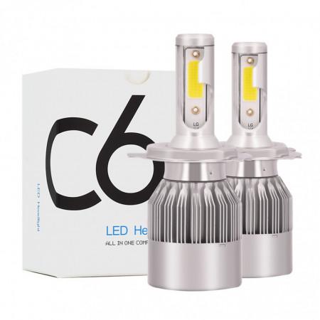 Set 2 becuri cu led C6 H4 36W/3800LM