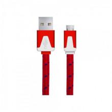 Android Micro USB - cablu date incarcator Plat 1m Rosu
