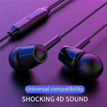 Casti In-EAR Stereo cu Jack 3.5mm si Microfon, Negru, PM-0050-V1