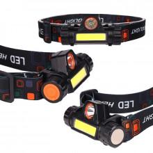 Lanterna frontala LED, T6 COB, magnet, IPX6