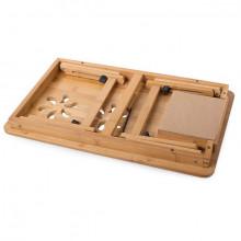 Masa pliabila pentru laptop cu ventilatie, bambus, PM012943