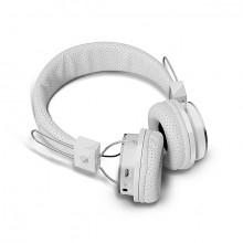 Casti Audio Bluetooth B05, compatibile iOS, Android, microfon si slot card SD, Alb
