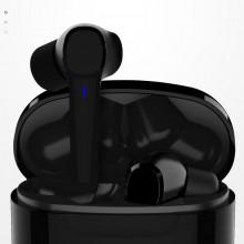 Casti fara fir, in-ear, stereo, Bluetooth 5.0, negru, TWS-5