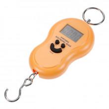 Cantar Electronic Portabil de Mana, Max 50Kg, Ecran LCD, Galben