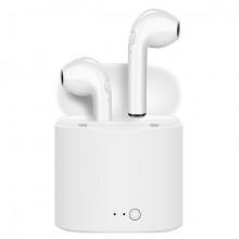 Casti audio wireless cu bluetooth i7S tip in-ear pentru IOS, Windows si Android