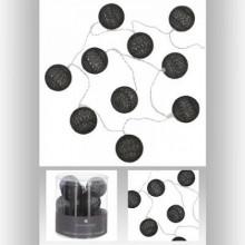 Ghirlanda Led cu baterie ,10 globuri negre , PM116415L3