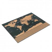 Harta lumii razuibila, limba engleza, drapeluri, 82x59 cm, multicolora