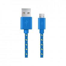 Android Micro USB - cablu date incarcator 1m Albastru