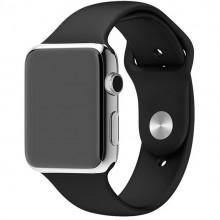 Curea de silicon pentru Apple Watch, Negru, 42/44mm/L, PM-0058-V2
