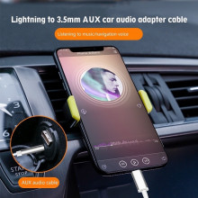 Cablu adaptor Lightning Type-C to 3.5 AUX audio adapter Cable, model JH-030