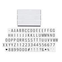 Caseta Luminoasa, litere, cifre si simboluri, PM59074513192223