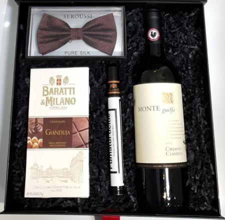 Black Box Wine & Bow tie