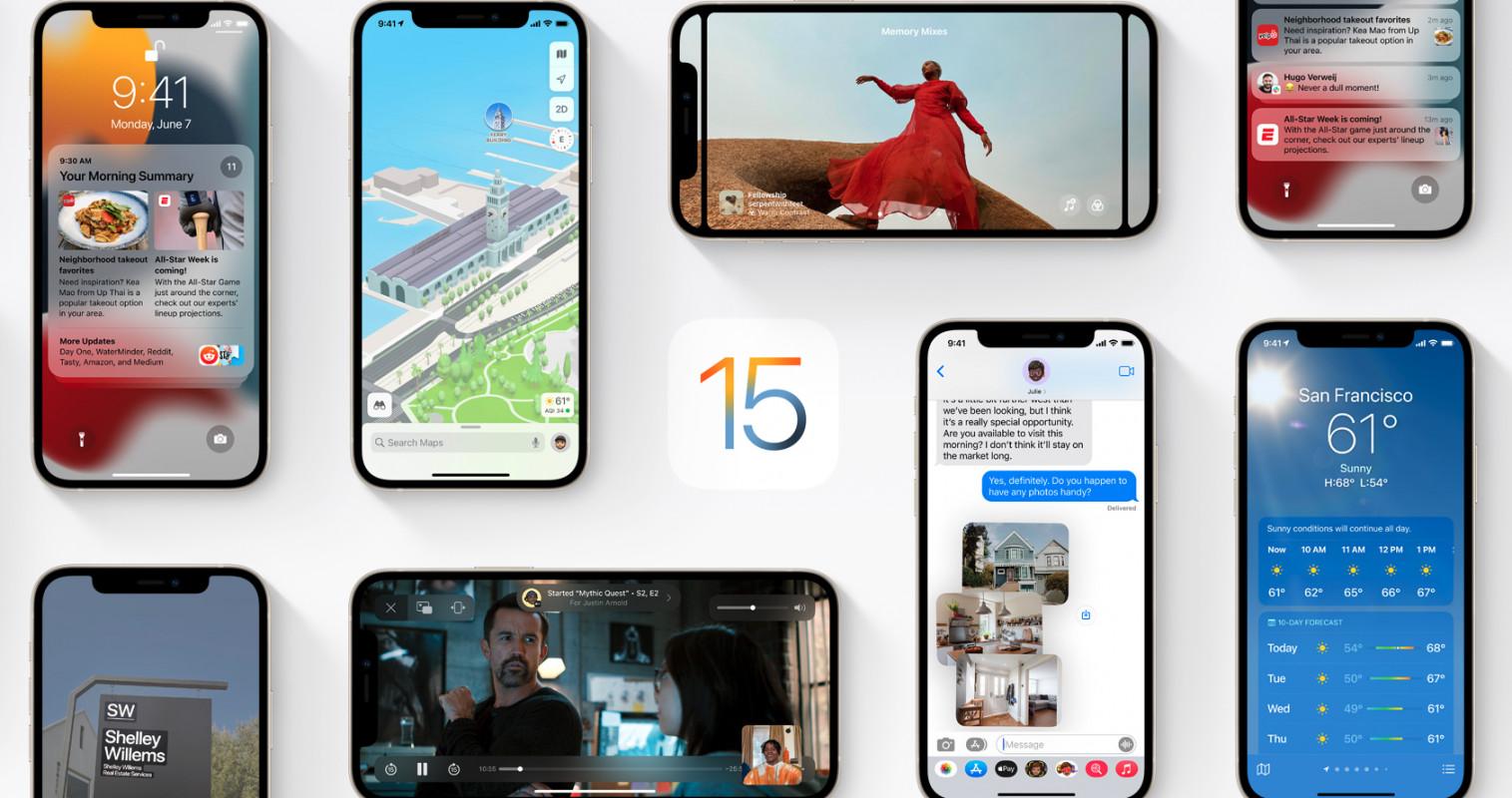 iOS 15 - Съвместими Apple устройства