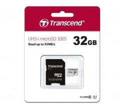 Карта памет Transcend 300S, 32GB, microSDXC, UHS-I U1, Class10
