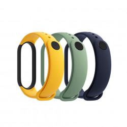 Комплект оригинални каишки за Xiaomi Mi Smart Band 5/6, 3бр. - жълт, зелен и син