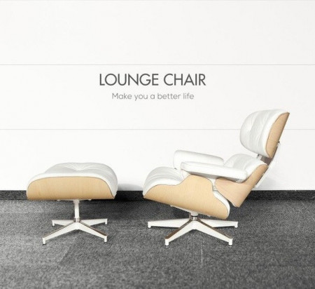 Fotoliu Eames Lounge Chair cu Otoman