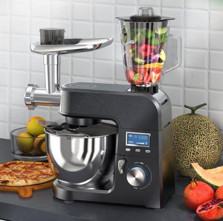 Robot bucatarie cu bol otel inoxidabil BW-VB01 1500W Blender, Mixer, Tocat carne