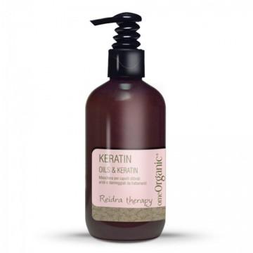 Uleiuri & Keratină - Mască de păr pentru părul uscat și părul afectat de tratamente. Conține ulei de măsline și ulei de Marula 250ml