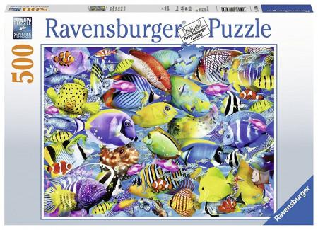 Puzzle Pesti Tropicali, 500 Piese