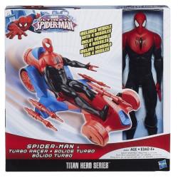 Set figurina Spiderman + masina turbo