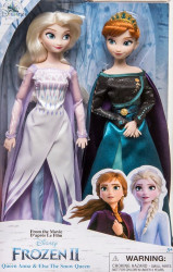 Set de papusi Elsa si Anna Frozen II Snow Queen 29CM