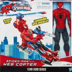 Figurina de colectie SPIDERMAN 30CM + ELICOPTER - EDITIE LIMITATA !