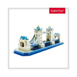PUZZLE 3D TOWER BRIDGE (NIVEL MEDIU 52 PIESE)