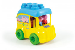 Soft Clemmy-Autobuz Peppa Cu Cuburi