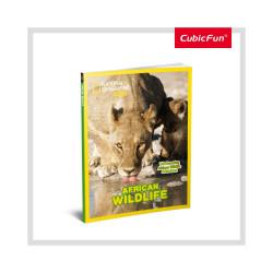 PUZZLE 3D+BROSURA-ANIMALE SALBATICE 69 PIESE