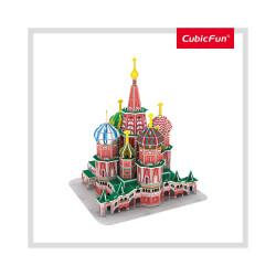 PUZZLE 3D CATEDRALA ST. BASIL (NIVEL MEDIU 92 PIESE)